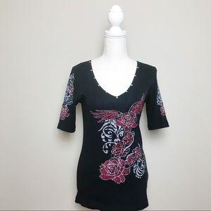 Sledge USA Tops - Sledge Graphic Embroidered Shirt